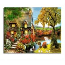 PZ 304119 диамантен гоблен - Есенна къща