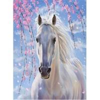 GI 304094  Диамантен гоблен - Бял кон