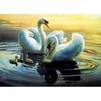 GI 304095 Диамантен гоблен - Лебеди