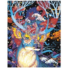 Картина по номера - Цветни елени ZG-0090