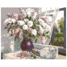 Картина по номера - Цветя на прозореца ZG-0104