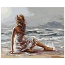Картина по номера - Момиче и море ZG-0124