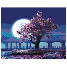 Картина по номера - Сакура и луната ZG-0128