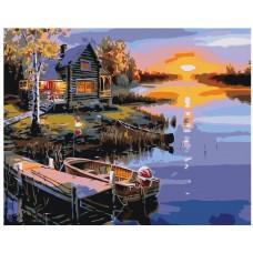 Картина по номера - Залез на реката ZG-0146