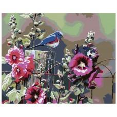 Картина по номера - Птица и цветя ZG-0153