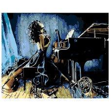 Картина по номера -  Пианистка ZG-0182