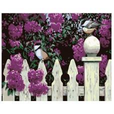 Картина по номера - Птици и люляци ZG-0192