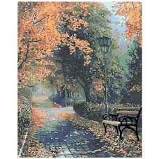 Картина по номера - Есенна алея ZG-0194