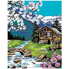 Картина по номера - Планинска къща ZG-0218