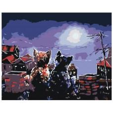 Картина по номера - Котки на покрива ZG-0222