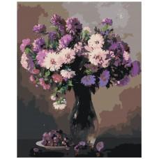 Картина по номера - Лилав букет ZG-0225