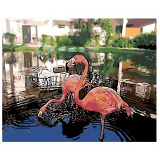Картина по номера - Фламинго ZG-0227