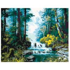 PZ 304130 Диамантен гоблен - Горска река