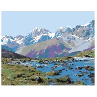PZ 304133 Диамантен гоблен - Планините