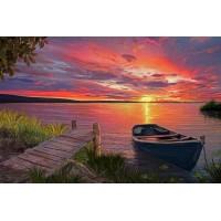 PZ 304139 Диамантен гоблен - Залез на езерото