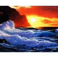 PZ 304144 Диамантен гоблен - Морски залез