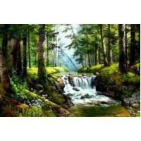 PZ 304146 Диамантен гоблен - Горска река