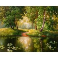 PZ 304152 Диамантен гоблен - Езерце