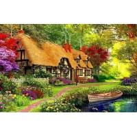 PZ 304156 Диамантен гоблен - Къща до реката