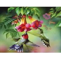 GI 304132 Диамантен гоблен - Птица и цветя