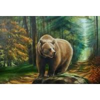 GI 304141 Диамантен гоблен - Мечка в гората