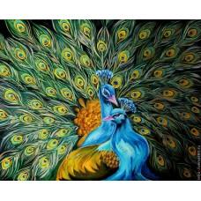 GI 304156 Диамантен гоблен - Прекрасни пауни