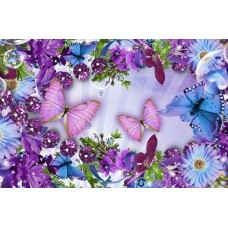 FL 304101 Лилави пеперуди - Диамантен гоблен
