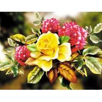 FL 304104  Цветя - Диамантен гоблен