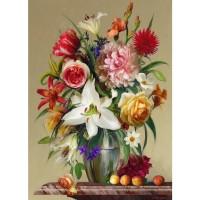 FL 304108 Цветя и праскови - Диамантен гоблен