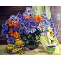 FL 304112 Цветя за чай - Диамантен гоблен