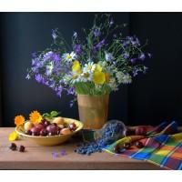 FL 304115 Цветя и плодове - Диамантен гоблен