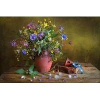 FL 304118  Диви цветя - Диамантен гоблен