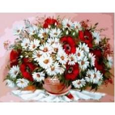 Комплект за рисуване по номера. Цветя – GX 29467