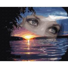 Комплект за рисуване по номера. Очи– GX 27261