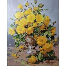 Комплект за рисуване по номера. Жълти цветя – GX 7530