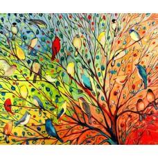 Комплект за рисуване по номера. Птици – GX 3962