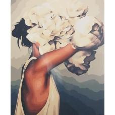 Дама с цветя Картина по номера GX 33516