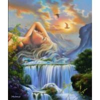 Жена и водопад Картина по номера GX 39933