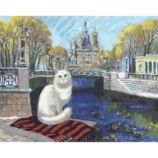 Бяла котка Картина по номера GX 4844