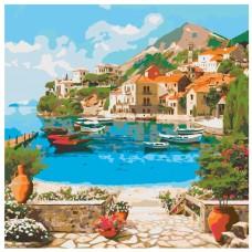 Картина по номера - Лодки на брега ZP-020