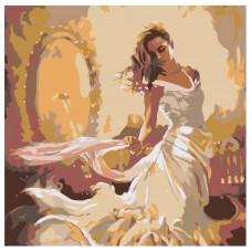 Картина по номера -  Момиче в бяла рокля ZP-015