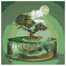 Картина по номера - Къща на дърво ZP-029