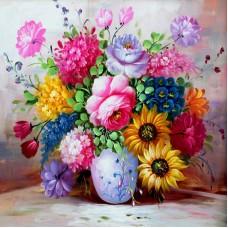 Картина по номера - Летен букет във ваза  ZP-038