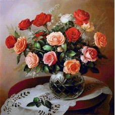 Картина по номера - Рози  ZP-045
