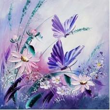 Картина по номера - Пеперуди и цветя  ZP-046