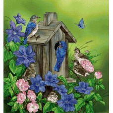 Картина по номера - Къщичка за птици  ZP-084