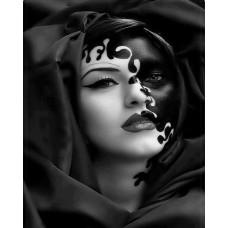 Картина по номера -  Дама с маска ZG-0248