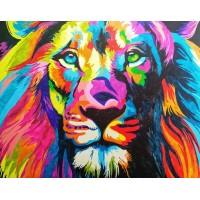 Шарен лъв - Картина по номера CX 3602