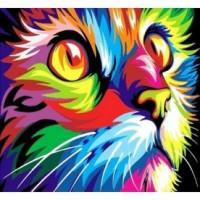 Шарена котка - Картина по номера CX 3635