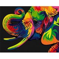 Шарен слон - Картина по номера CX 3645